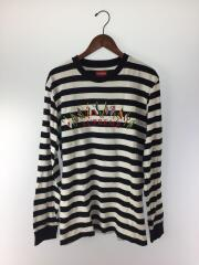 19AW/Flags L/S Top/長袖Tシャツ/M/コットン/BLK/ボーダー