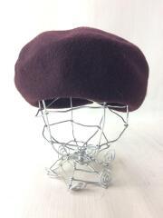 ベレー帽/--/ウール/BRW/無地