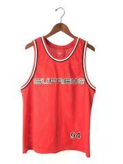 19SS/Rhinestone Basketball Jersey/タンクトップ/S/ポリエステル/RED/無地
