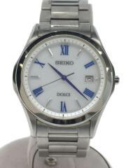 ソーラー腕時計/V147-0BF0/アナログ/ステンレス/WHT