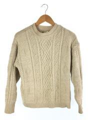 Vintage Aran Knit/セーター(厚手)/FREE/コットン/IVO/無地/11920525
