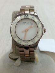 クォーツ腕時計/アナログ/ステンレス/ホワイト/MBM3076