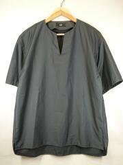 Tシャツ/S/ポリエステル/GRY/無地