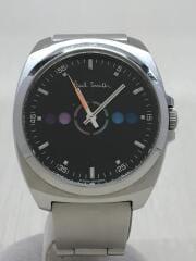 クォーツ腕時計/アナログ/ステンレス/BLK/GN-4-S