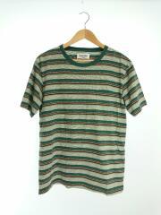Tシャツ/M/コットン/GRN/ボーダー