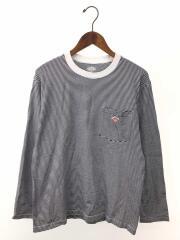 長袖Tシャツ/M/コットン/NVY/ボーダー/JD-9077