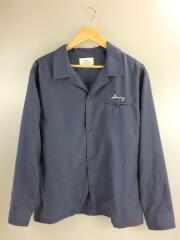 カリフォルニア刺繍オープンカラーシャツ/LA94-13Y502/19SS/L/ポリエステル/BLU
