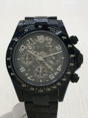 クォーツ腕時計/アナログ/ステンレス/BLK/BLK/BA-1662/中古