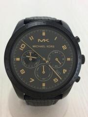 クォーツ腕時計/アナログ/レザー/BLK/MK-8705/セカスト/中古// クロノグラフ Keaton
