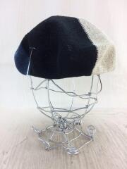 cableami/ケーブルアミ/Linen Beret/ベレー帽/L/リネン/マルチカラー/中古
