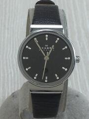 クォーツ腕時計/アナログ/レザー/BLK/BLK/SKW2193/ANCER/26mm/中古