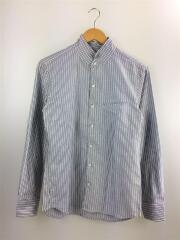 ドビー織りスタンドカラーシャツ/9462-8000/46/コットン/GRY/ストライプ