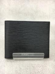 2つ折り財布/--/BLK/無地/メンズ/877603/マネーケース/中古