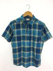 半袖シャツ/S/ポリエステル/BLU/チェック/スプリングフォーシャーリーシャツ/中古/古着/アウトト