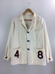 ドリンキングジャケット/×BEAMS+/40/コットン/BEG/無地/カバーオール テーラードジャケット