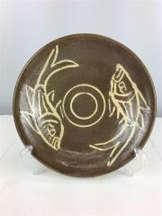 8寸皿//魚紋/BRW/やちむん