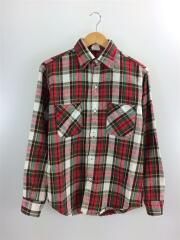 ネルシャツ/M/70s/コットン/RED/チェック