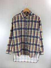 PRINT NEL CHK LONG シャツ/19-050-470-5210-3-0/19年モデル/S/コットン