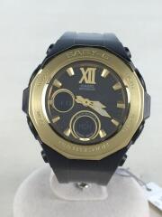 カシオ/ソーラー腕時計・Baby-G/デジアナ/ラバー/BLK/BLK/ブラック/ブラック