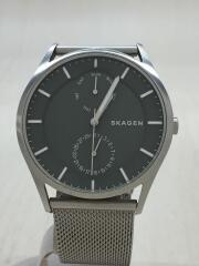 SKAGEN/スカーゲン/クォーツ腕時計/アナログ/ステンレス/カーキ