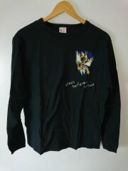 FLYING TIGER/スコードロンナンバー/長袖Tシャツ/M/コットン/BLK