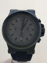 クォーツ腕時計/アナログ/ラバー/GRY/グレー/灰/NVY/ネイビー/紺/MK-8493