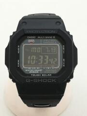 ソーラー腕時計・G-SHOCK/デジタル/ステンレス/ブラック/黒