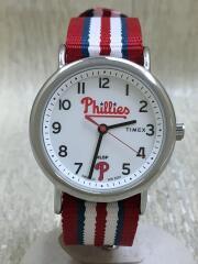 クォーツ腕時計/アナログ/--/ホワイト/白/レッド/赤/TW2T55100