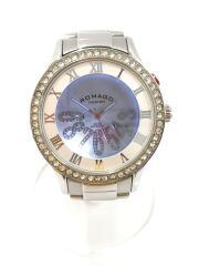 クォーツ腕時計/アナログ/ステンレス/シルバー/ラインストーン/RM019-0214-4