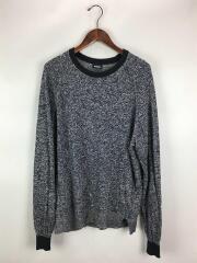セーター(薄手)/XL/リネン/ネイビー/紺色