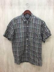 半袖シャツ/M/コットン/グリーン/チェック/緑/9275-6000