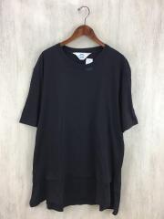 Tシャツ/レイヤード/3/コットン/ブラック/黒/SNS-14S01