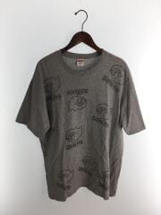 gonz heads TEE/17AQ/Tシャツ/L/コットン/グレー
