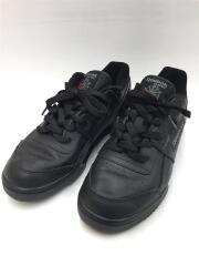 ローカットスニーカー/24cm/黒/ブラック/レザー/2760