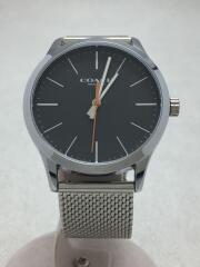 クォーツ腕時計/アナログ/ステンレス/グレー/灰色/SLV