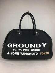 Ground Y/ボストンバッグ/キャンバス/BLK