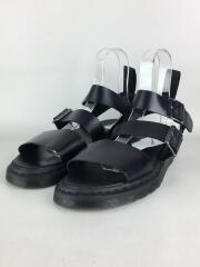 サンダル/UK9/ブラック/黒