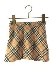 スカート/110cm/コットン/ベージュ/チェック