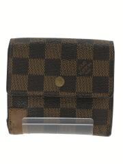 ポルトモネビエカルトクレディ_ダミエエベヌ/N61652/ルヴィトン/3つ折り財布