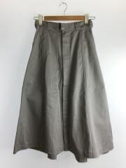 チノスカート/ロングスカート/2/コットン/GRY/17A117-004