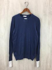 セーター(薄手)/ニット/2/コットン/BLU