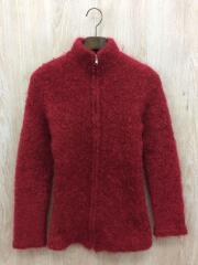 ジップセーター(厚手)/ニット/カーディガン/モヘア/RED/PT-040360/AD2000