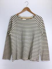 バスクシャツ/長袖Tシャツ/カットソー/40/コットン/WHT/ボーダー/H1P12-733-40