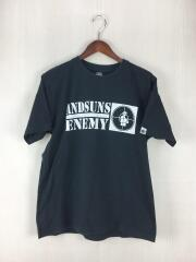 ANDSUNS ENEMY/プリントTシャツ/M/コットン/BLK