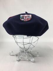 バスク帽/ベレー帽/帽子/ウール/NAVY×D-RED/TDB-W-08