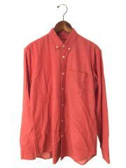 Oxford Shirt/オックスフォードシャツ/ボタンダウンシャツ/長袖シャツ/S/コットン/RED