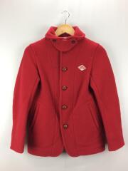 ウールモッサジャケット/コート/36/ウール/RED/JD-8243