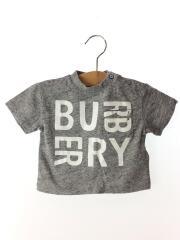 キッズ/プリントTシャツ/6M/コットン/GRY