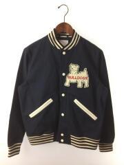 12SS/Bulldog Varsity Jacket/スタジャン/ジャケット/S/コットン/NVY