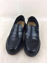 ABBOTT/アボット/ローファー/シューズ/革靴/UK4/US6/BLK/レザー